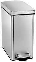 Simplehuman 10 Liter Profile Step Trash Can in Fingerprint-Proof Brushed Stainless Steel