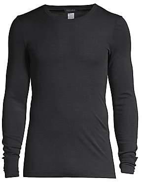 Hanro Men's Woolen Silk Long Sleeve Crewneck Tee