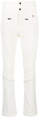 Perfect Moment Logo-Embroidered Flared Trousers