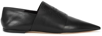 Loewe Black Perforated Leather Flats