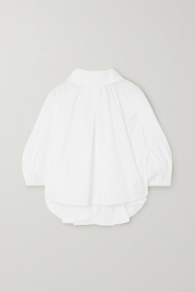 NACKIYÉ Frou Frou Cotton-poplin Top - White