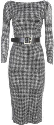 La Petit Robe Di Chiara Boni Lorne Print Belt Mix Jersey