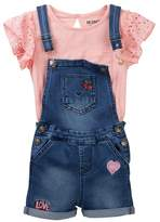 Hudson Lace Top & Overalls (Toddler Girls)