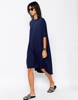 Asos Oversize T-Shirt Dress With Curved Hem