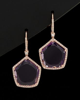 Meira T 14K 17.07 Ct. Tw. Diamond & Amethyst Earrings