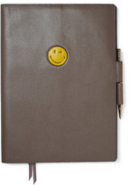 Anya Hindmarch Wink Textured-Leather A4 Notebook Set