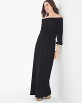 Chico's Solid Peasant Maxi Dress