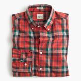 J.Crew Secret Wash shirt in heather poplin red plaid