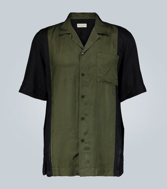 Dries Van Noten Colorblock short-sleeved shirt