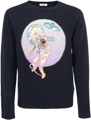 Valentino Embroidered Astronaut Sweater