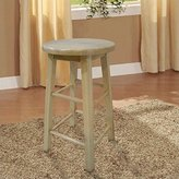 Linon 98101NAT-01-KD Barstool with Round Seat, 24-Inch