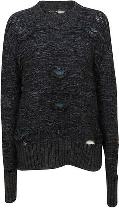 MM6 MAISON MARGIELA Grey Cotton Sweater