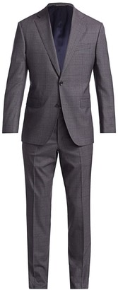 Saks Fifth Avenue COLLECTION Subtle Glen Plaid Wool Suit