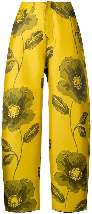 Marques Almeida Marques'almeida floral printed trousers