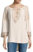 Le Marais Front-Tie Crochet Top