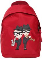 Dolce & Gabbana Designers Patch Nylon Canvas Backpack