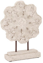Southern Living Scalloped Leaf Medallion Ash Statue