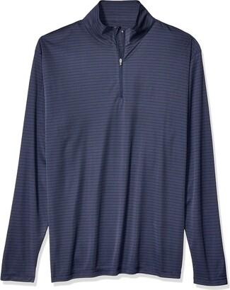 AquaGuard Men's Striped 1/4-Zip Pullover