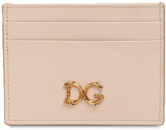 Dolce & Gabbana Girls Barocco Leather Card Holder