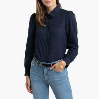 La Redoute Collections Dotted Cotton Shirt with Long Sleeves
