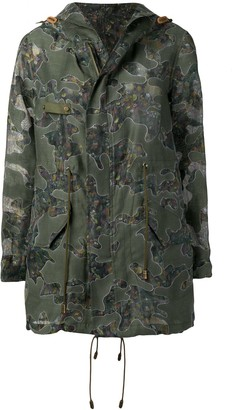 Mr & Mrs Italy Floral Camo Print Parka