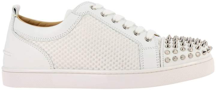 the best attitude d7381 5f64e Sneakers Ac Louis Junior Spikes Sneakers In Smooth Leather And Mesh With  Studded Toe