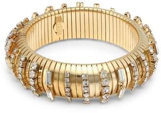 Rosantica Argo Goldtone & Crystal Chain Link Stretch Bracelet