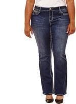 Boutique + + 31 Embellished Pocket Bootcut Jeans-Plus
