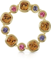 Forzieri Purple, Pink and Orcher Crystals Bracelet