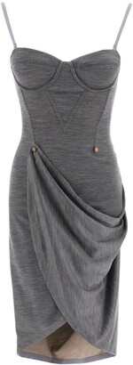Burberry Draped Fitted Dress