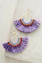 Anthropologie Josephina Tassel Hoop Earrings