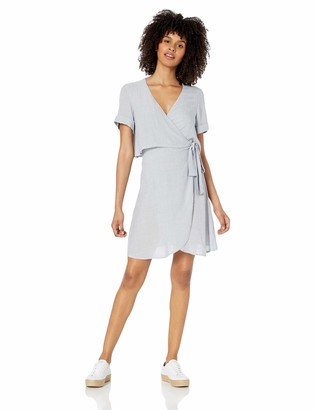 Volcom Junior's Women's Go Fun Yourself Mini Wrap Dress