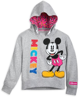 Disney Mickey Mouse Hooded Pullover Top for Girls Walt World