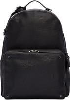 Valentino Black Leather Rockstud Backpack