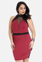 Fashion to Figure Braylen Color-Block Mesh Dress