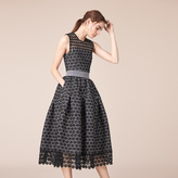 Maje Long bonded lace dress