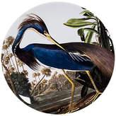 Magpie Heron Round Platter, Blue/White