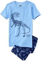Crazy 8 Blue Dino Tight-Fit Pajama Set - Infant Toddler & Boys