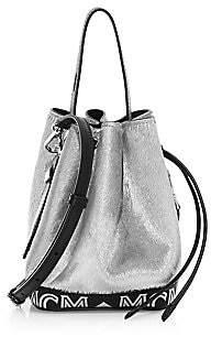 MCM Women's Mini Milano Lux Drawstring Calf Hair Bucket Bag