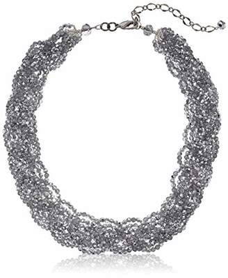 Panacea Crystal Braided Statement Choker Necklace