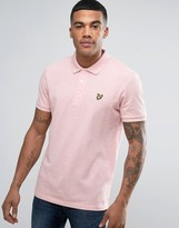 Lyle & Scott Pique Polo Regular Fit Eagle Logo in Pink Marl
