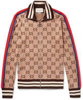 Gucci Slim-Fit Webbing-Trimmed Cotton-Jacquard Track Jacket