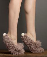 Lemon Legwear Women's Socks BUFF - Buff Shaggy Bunny Slipper Socks - Women