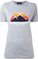 DSQUARED2 mountain logo t-shirt - women - Cotton/Viscose - XS