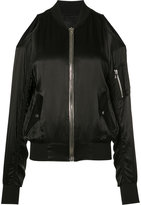 RtA open shoulder bomber jacket - women - Silk - XS