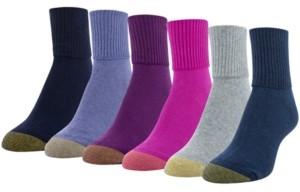 Gold Toe Women's Casual Turn Cuff 6pk Socks