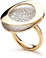 Antonini Antoni 18K Yellow Gold Atolli Pave Diamond Large Ring