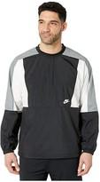 Nike NSW Jacket Woven Crew Color Block (Black/White/Smoke Grey/White) Men's Clothing