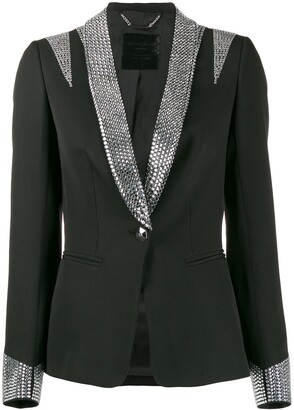 Philipp Plein Crystal Tuxedo Jacket