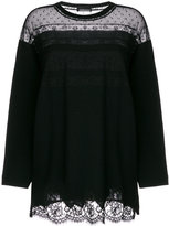 Ermanno Scervino lace-trim mesh top